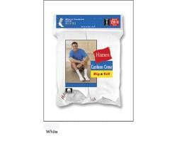Hanes Big and Tall Crew Socks (Pack of 6)