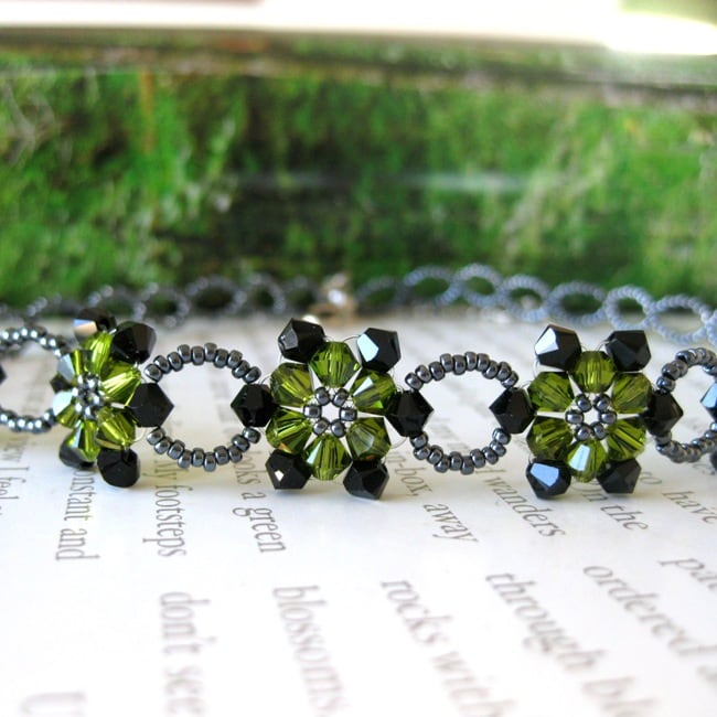 Stainless Steel Crystal Sunflower Choker Necklace