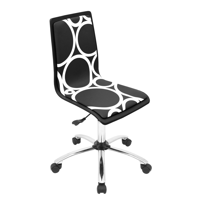 Printed Circles Computer Chair Black