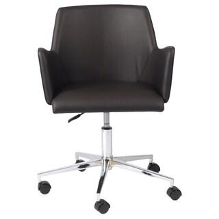 Sunny Brown/Chrome Adjustable Office Chair
