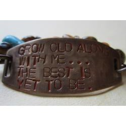 'Grow Old With Me' Vintage Bracelet