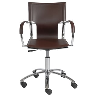 Vinnie Brown/Chrome Office Chair