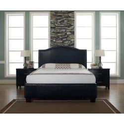 Venice-X Cal King-size Chocolate Leather Bed