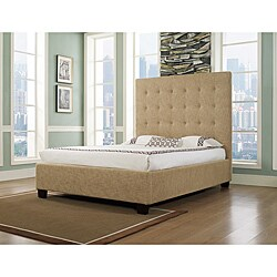 Malibu-X Eastern Almond Fabric King-size Platform Bed