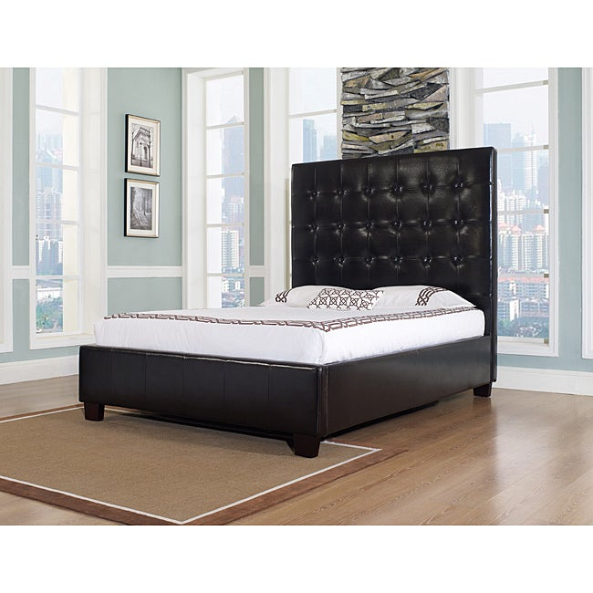 Malibu-X Eastern Chocolate Leather King-size Platform Bed
