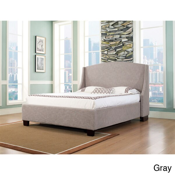 Oxford-X Eastern King-size Fabric Platform Bed