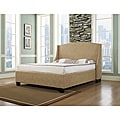 Oxford-X Cal King-size Almond Fabric Bed