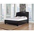 Oxford-X Cal King-size Chocolate Leather Bed