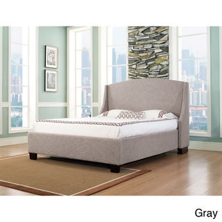 Oxford-X Queen-size Fabric Platform Bed