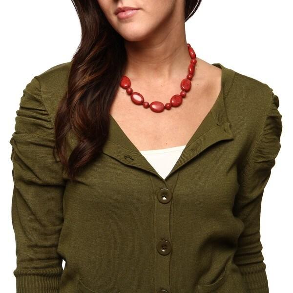 Lauren Ralph Lauren Coral Nugget & Round Bead 18-inch Necklace