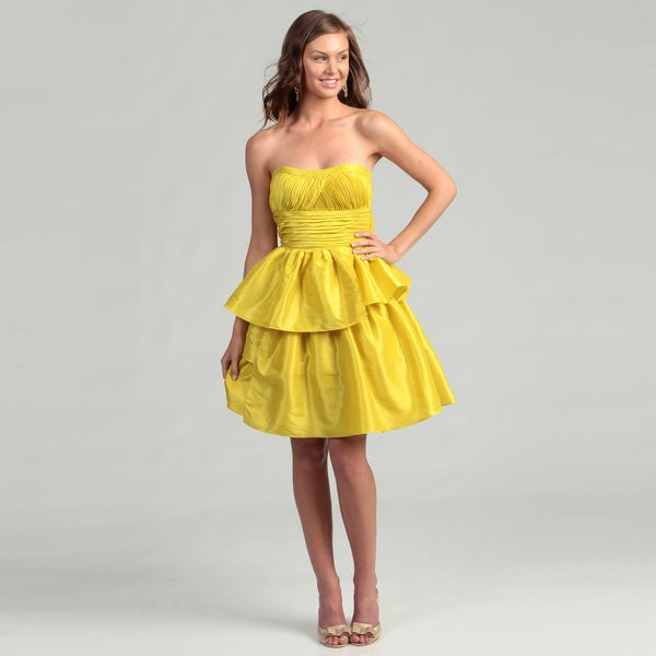 Jessica Simpson Women's Citronelle Taffeta Sequin Ruffle Dress FINAL SALE