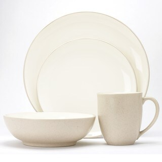 Noritake Colorware Cream Coupe 16 Piece Dinnerware Set