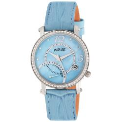 August Steiner Women's Classic Dual Time Strap Watch