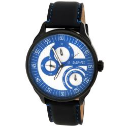 August Steiner Men's Stainless Steel Multifunction Leather Watch