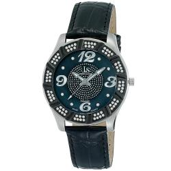 Joshua & Sons Men's Water-Resistant Swiss Quartz Diamond Strap Watch