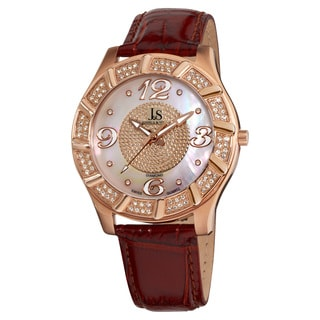 Joshua & Sons Men's Swiss Quartz Diamond Strap Watch
