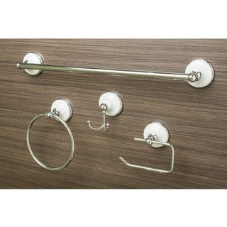 Sure-Loc Vintage Chrome Porcelain 4-piece Bathroom Accessory Set