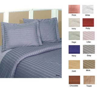 Striped 250 Thread Count 3-piece Duvet Cover Set