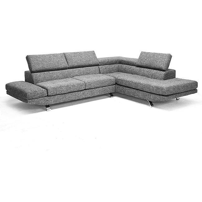 Adelaide Gray Twill Fabric Modern Sectional Sofa