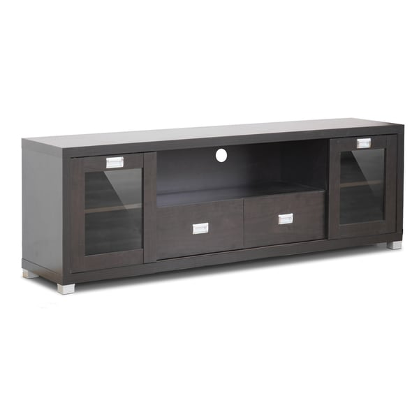Gosford brown wood modern tv stand 14071913 overstock com shopping