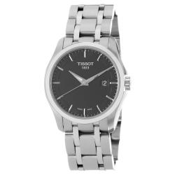 Tissot Men's 'Couturier' Black Dial Stainless Steel Bracelet Watch