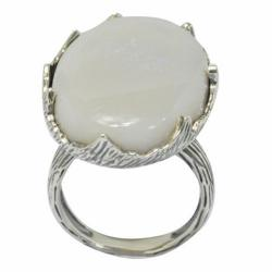 De Buman 18K Yellow Gold and Sterling Silver Opal Ring