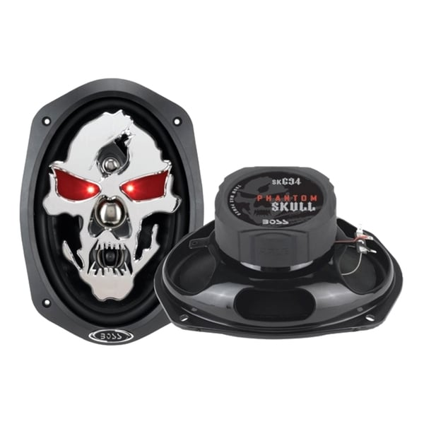 "Boss Phantom Skull 6"" x 9"" 4-way 700W Full Range Speaker"
