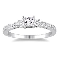 Miadora 10k White Gold 1/2ct TDW Diamond Ring (G-H, I1-I2)