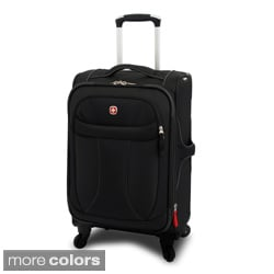 Wenger Black 20-inch Lightweight Spinner Upright