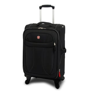 Wenger Black Neolite 20-inch Lightweight Carry On Spinner Upright Suitcase
