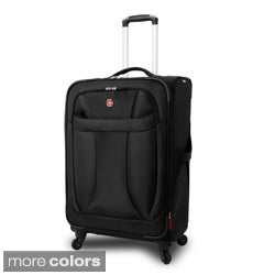 Wenger Black 24-inch Lightweight Spinner Upright
