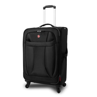 Wenger Black Neolite 24-inch Lightweight Spinner Upright Suitcase