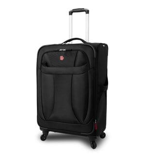 Wenger Black Neolite 24-inch Lightweight Spinner Upright Suitcase
