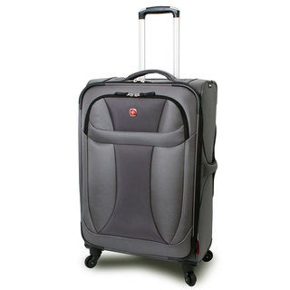 Wenger Grey Neolite 24-inch Lightweight Spinner Upright Suitcase