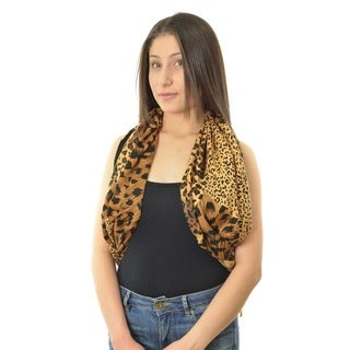 LA77 Animal Print Rectangle Scarf