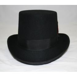 Ferrecci Men's Black Wool Felt Top Hat