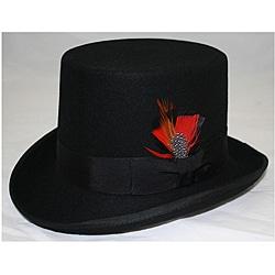 Ferrecci Men's Black Wool Felt Top Hat