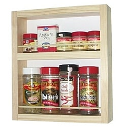 WG Wood Products Solid Wood Surface Mounted  Kitchen Spice Rack