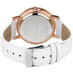 August Steiner Women's MOP White Crystal Quartz Strap Watch