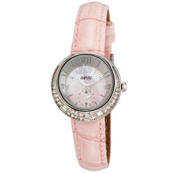 August Steiner Women's Water-Resistant Czech Stone Accented Quartz Strap Watch