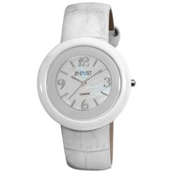 August Steiner Women's Ceramic Case Quartz Fashion Strap Watch