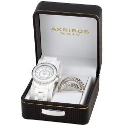 Akribos XXIV Women's Ceramic Interchangeable Bezel Watch