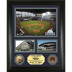 Highland Mint Seattle Mariners Safeco Field 'Showcase' Infield Dirt and Coin Photo Mint