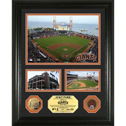 Highland Mint San Francisco Giants AT&T Park 'Showcase' Infield Dirt and Coin Photo Mint