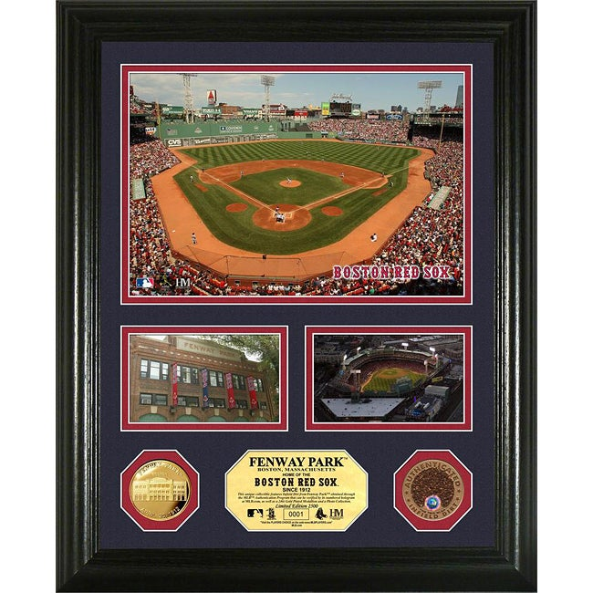 Highland Mint Boston Red Sox Fenway Park 'Showcase' Infield Dirt and Coin Photo Mint
