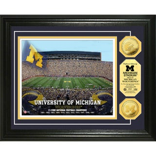 University of Michigan Stadium 24k Gold Coin Photo Mint