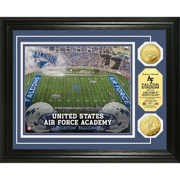 States air force academy falcon stadium 24 karat gold coin photomint