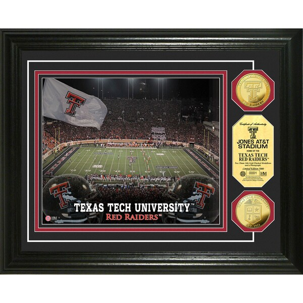 Highland Mint Texas Tech University Jones AT&T Stadium 24-Karat Gold Coin Photo Mint