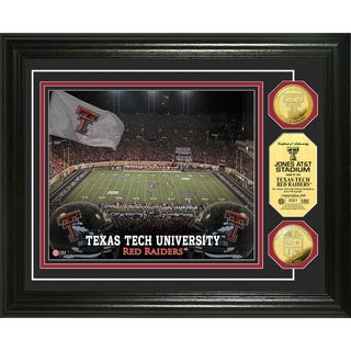 Highland Mint Texas Tech University Jones AT&T Stadium 24-Karat Gold Coin Photo Mint