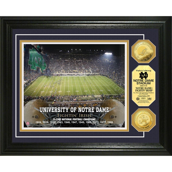 Highland Mint University of Notre Dame Stadium 24-karat Gold Coin Photo Mint